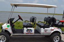 Rent a golf cart from Rick's Beach Rentals 409-632-0256