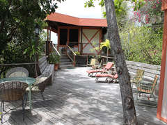 5-Spacious deck (looking from Guest House to Main House)