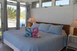 Guest bedroom (king bed convertible to twins) with Ocean Views