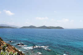 View of the Caribbean Sea towards the British Virgin Islands