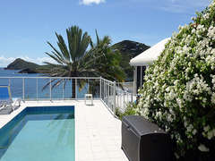 Pool deck looking south