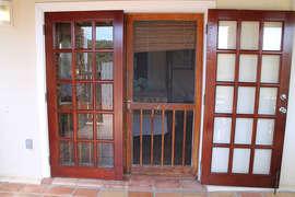 Custom Mahogany Doors to Lower Master Suites