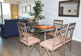 Dining AreaThe Terrace at Pelican Beach Resort Destin Florida Vacation Rentals