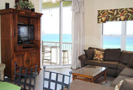 Living RoomWaters Edge Resort Unit 604 Fort Walton Beach Okaloosa Island Vacation Rentals
