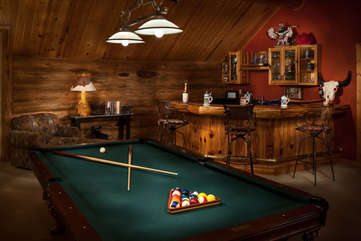 Bar and billiards, upstairs landing - Star View Lodge