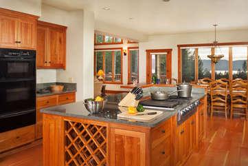 Timberline Vista - Gourmet Kitchen and Dining Room  www.enjoymontana.com