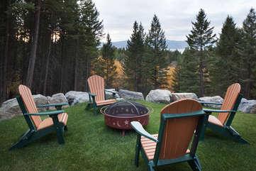 Timberline Vista - Fire Pit www.enjoymontana.com