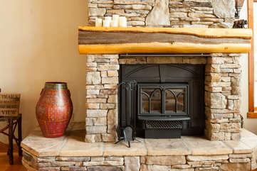 Timberline Vista - Fireplace www.enjoymontana.com