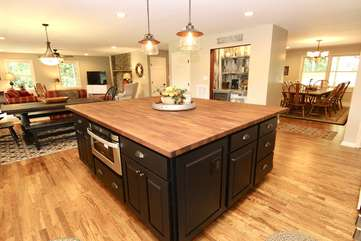 Open concept for large family gatherings